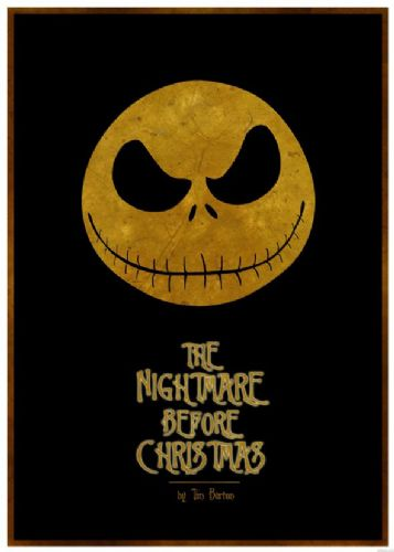 1990's Movie - THE NIGHTMARE BEFORE CHRISTMAS MINIMAL 1/ canvas print - self adhesive poster - photo